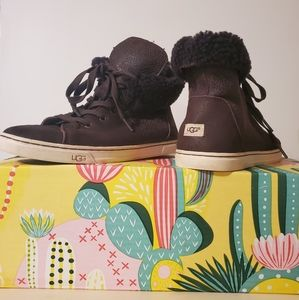 Ugg Sneakers Brown Leather Hightop